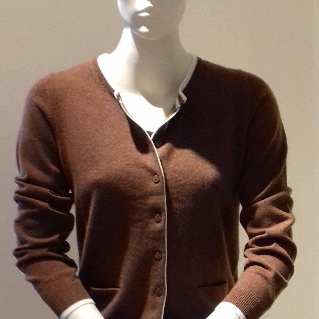 chocolade bruin vest Cassis